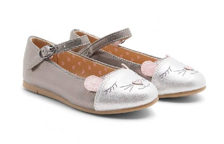 Туфли на Новый год с дизайном мышки для девочек