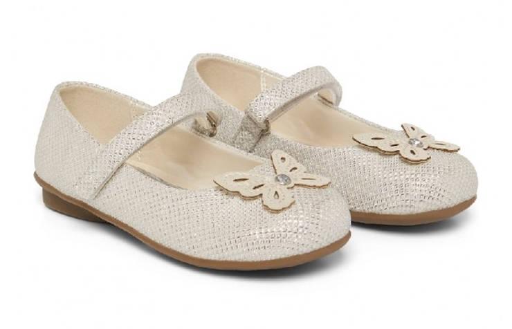 Туфли на Новый год с бабочками для девочек