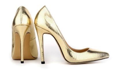 Золотые новогодние туфли