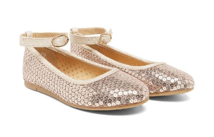 Новогодние туфли с пайетками для девочек
