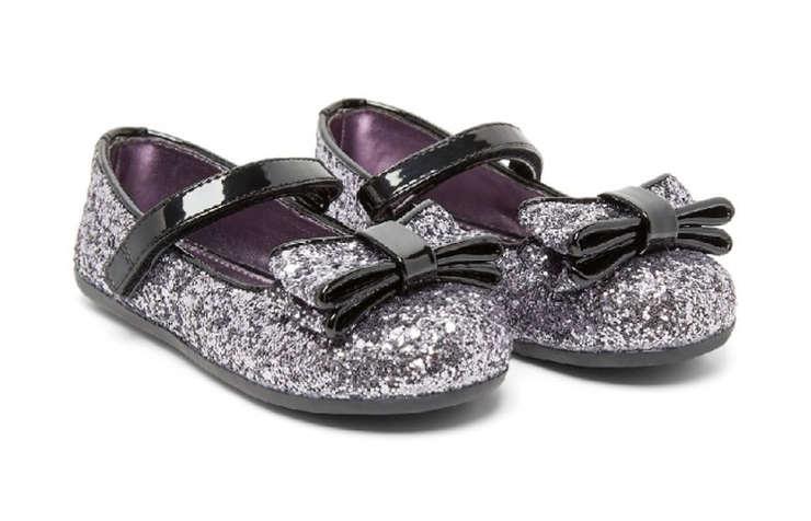 Серебряные туфли для девочек