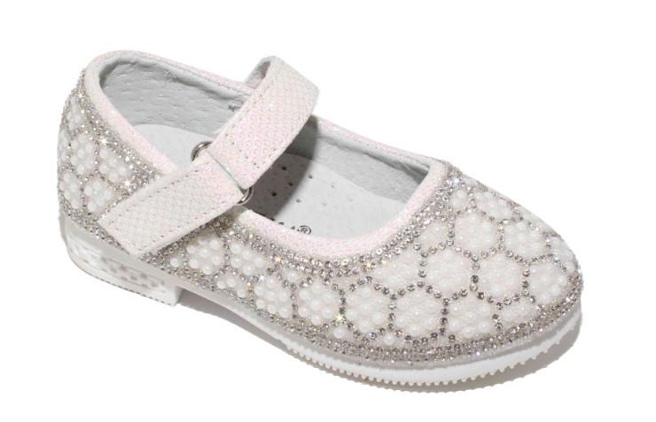 Новогодние туфли со стразами для девочек