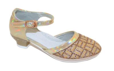 Новогодние туфли для девочек на каблуках