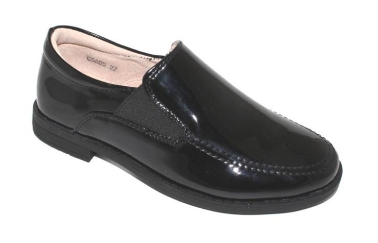 Черные лаковые туфли для мальчиков