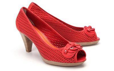Женские плетеные туфли на низком каблуке