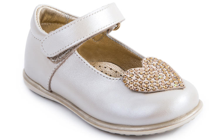 Бежевые праздничные туфли для девочек