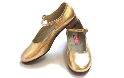 Золотые туфли для народных танцев