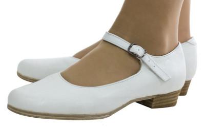 Белые туфли для народного танца