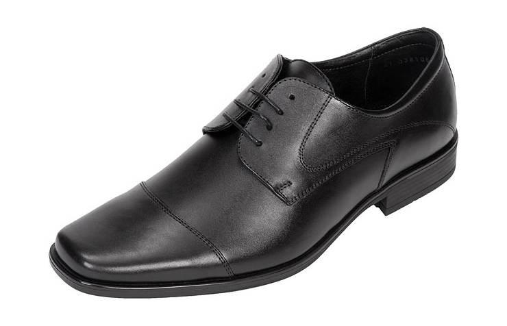 Мужские туфли с тупым мыском