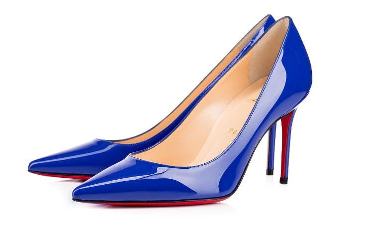 Синие туфли Louboutin Декольте 554