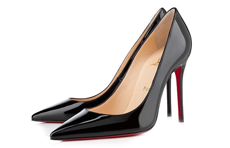 Черные лакированные туфли Декольте 554