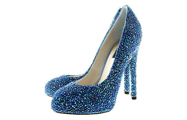 Синие новогодние туфли