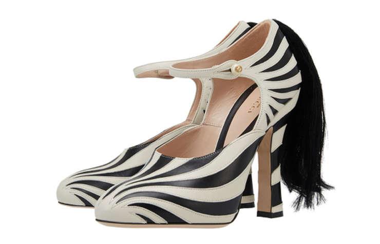 Туфли с узором зебры