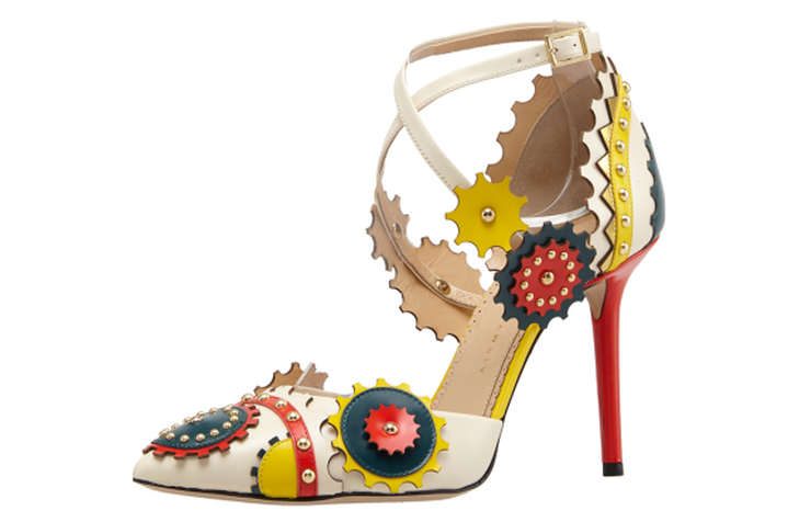 Туфли с разноцветными шестеренками