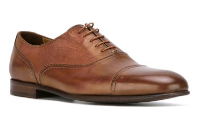 Коричневые кожаные мужские туфли от Paul Smith